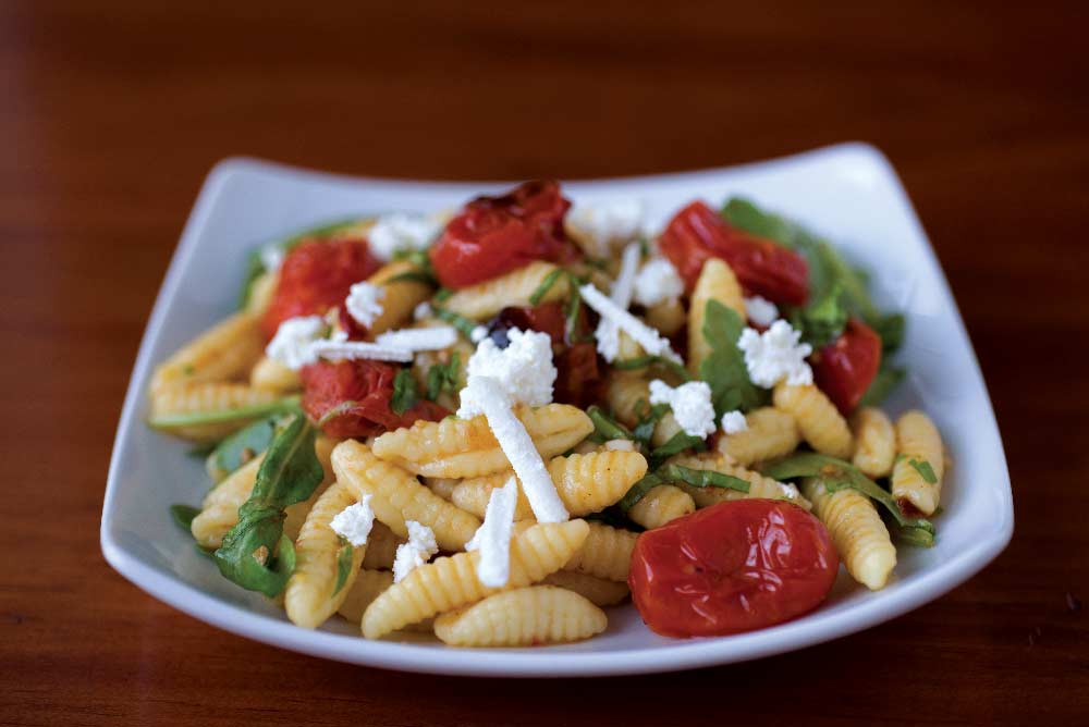 Cavatelli Pasta with Arugula, Grape Tomatoes, &Ricotta Salata