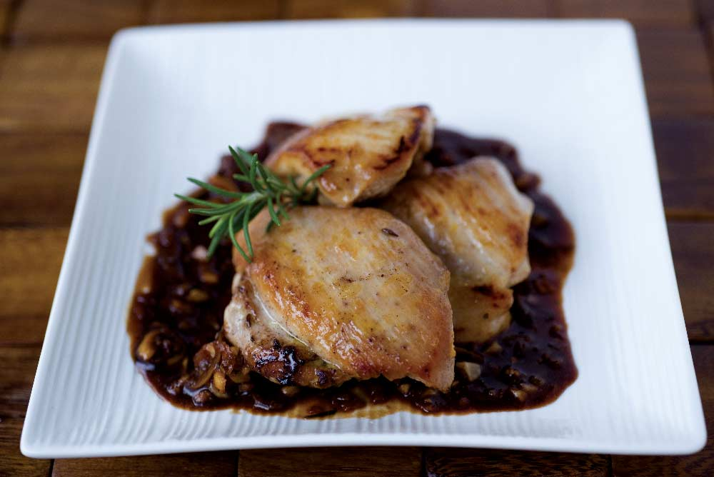 Roasted Chicken in Balsamic-Honey Glaze