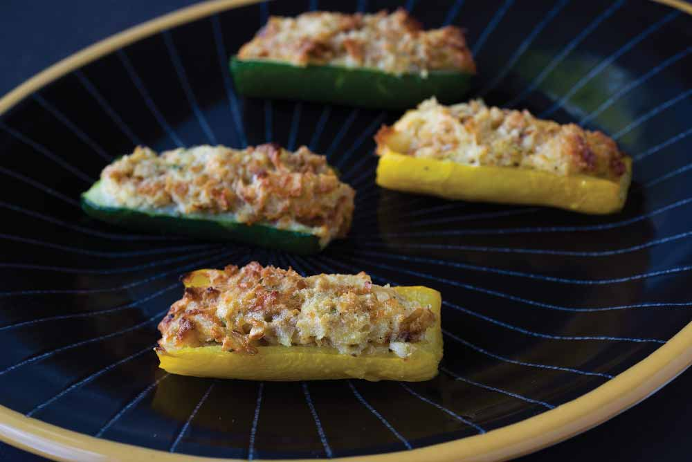 Herb- &  Cheese-Stuffed Zucchini