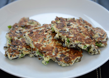 Wild Rice and Ricotta Fritters with Scallions