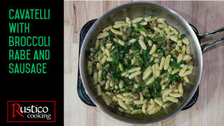 cavatelli broccoli rabe sausage