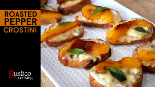 roasted pepper crostini