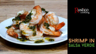 shrimp in salsa verde
