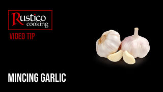 mincing garlic