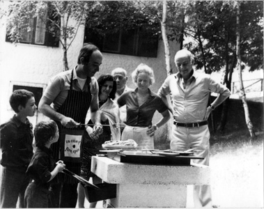 Negrin family barbecue in the 1970s