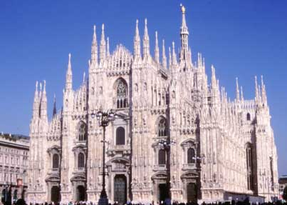 The Duomo from Milan, one of the most beautiful churches of Italy