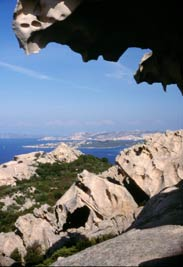 Capo d'Orso, a stunning rock formation shaped like a bear on the northeastern coast of Sardinia.
