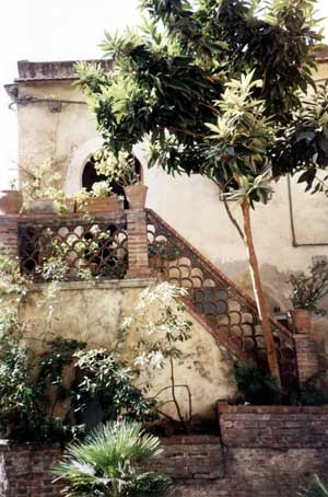 A quiet corner in the historical center of Taormina