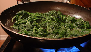 Step 2: Wash and Cook the Spinach