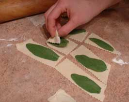 Step 3: Roll out the Dough, Cut into Rectangles, & Top Each Rectangle with a Sage Leaf