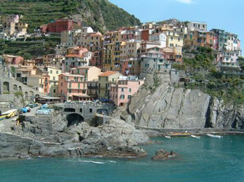 Manarola, the fourth town (from the North)